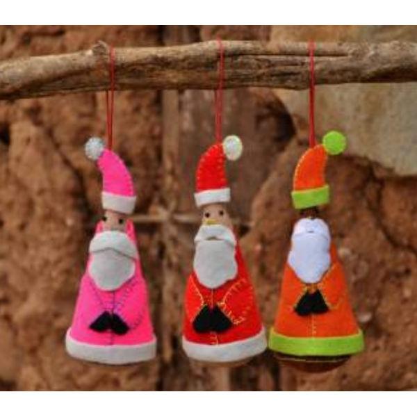 Weihnachtsmann aus Filz, kegelförmig