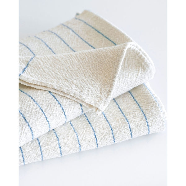 large country towel with pinstripes - DENIM
