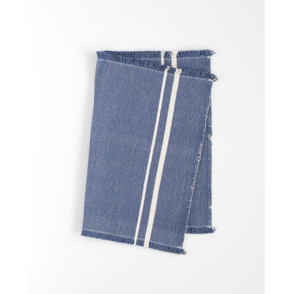 contemporary placemat with stripes on end - INDIGO