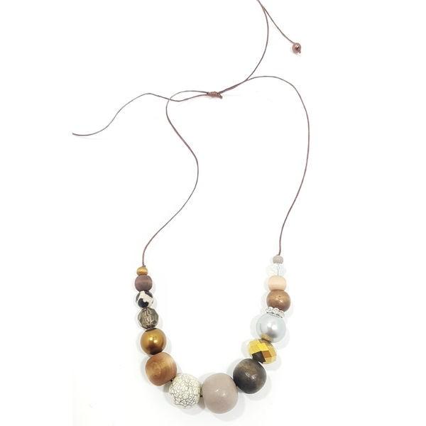 Halskette Chica COGNAC