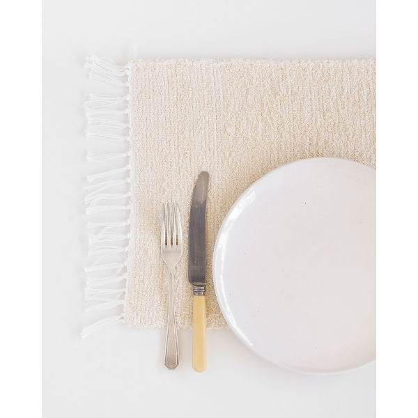 thick weave placemat - NATURAL
