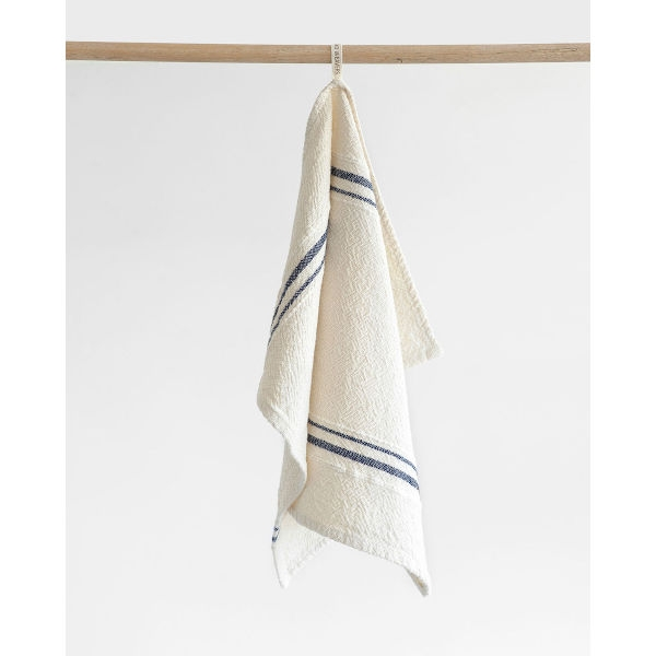 small country towel with variegated stripes - NAVY