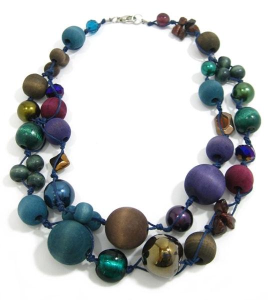 Halskette 2-Strang PEACOCK