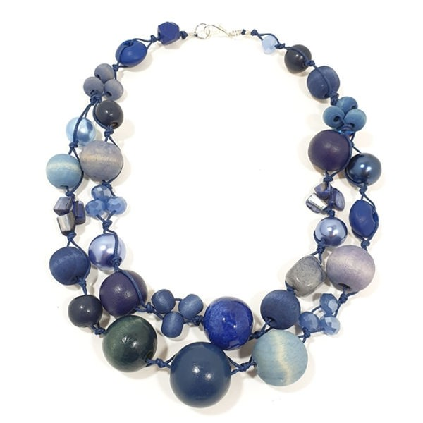 Halskette Betty Boo 2-Strang BLUE JEANS