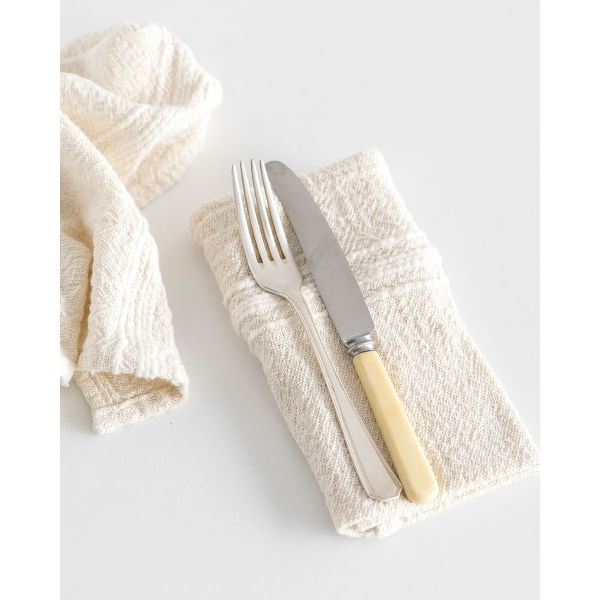 country napkin with variegated stripes - NATURAL