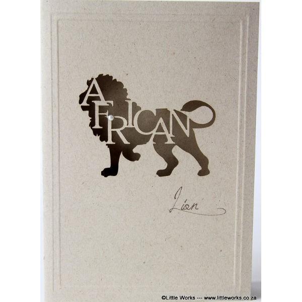 """Grußkarte """"Africa Lion"""" - Desert Storm"""