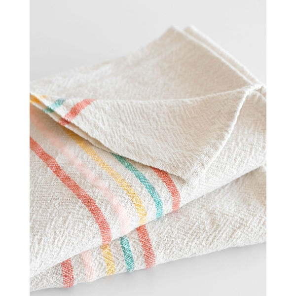 large country towel with stripes on end - CANDY