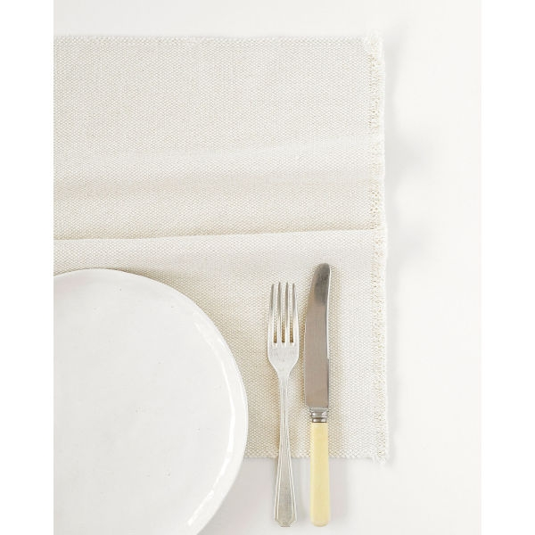 country placemat with stripes on end - NATURAL