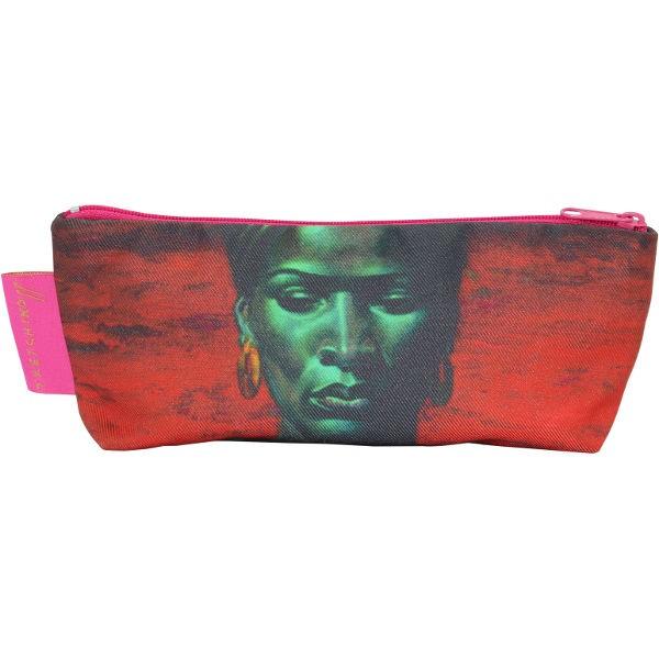 Tretchikoff Make-up Purse Zulu Girl Red Sunset