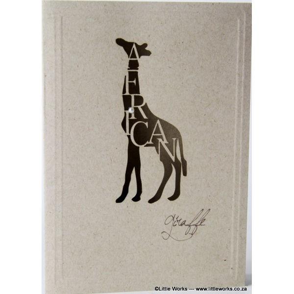 "Grußkarte ""Africa Giraffe"" - Desert Storm"