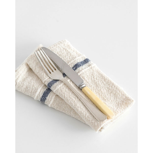 country napkin with variegated stripes - NAVY