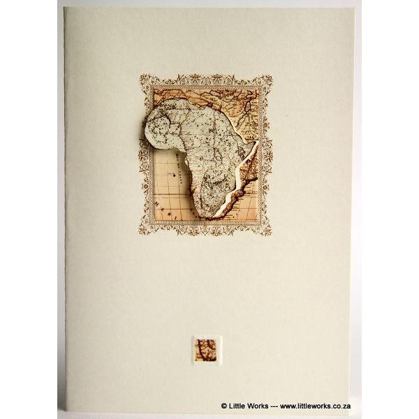"""Grußkarte """"Vintage Africa"""""""
