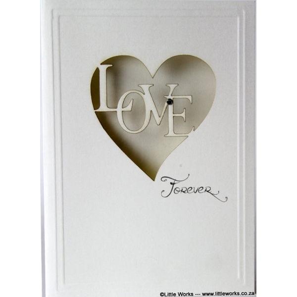 """Grußkarte """"Love forever"""""""