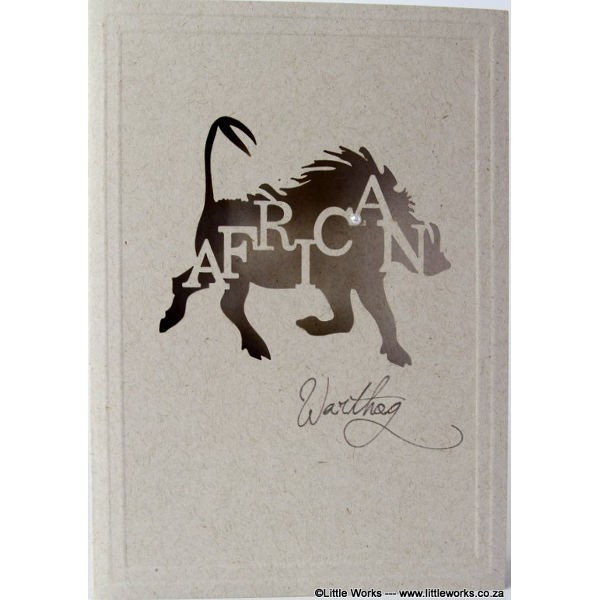 """Grußkarte """"Africa Warthog"""" - Desert Storm"""