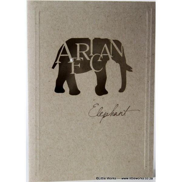 """Grußkarte """"Africa Elephant"""" - Desert Storm"""