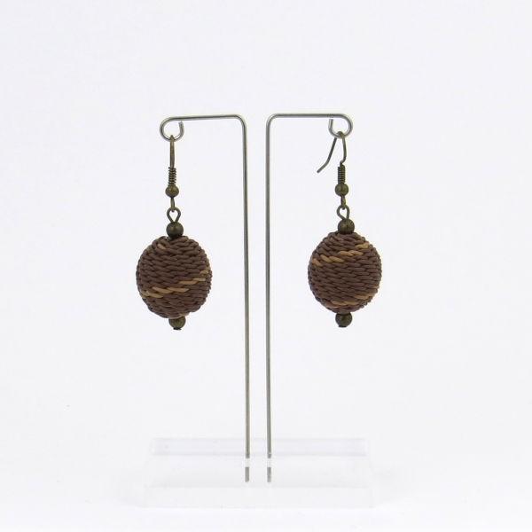 "Ohrringe ""Woven bead"" - small"