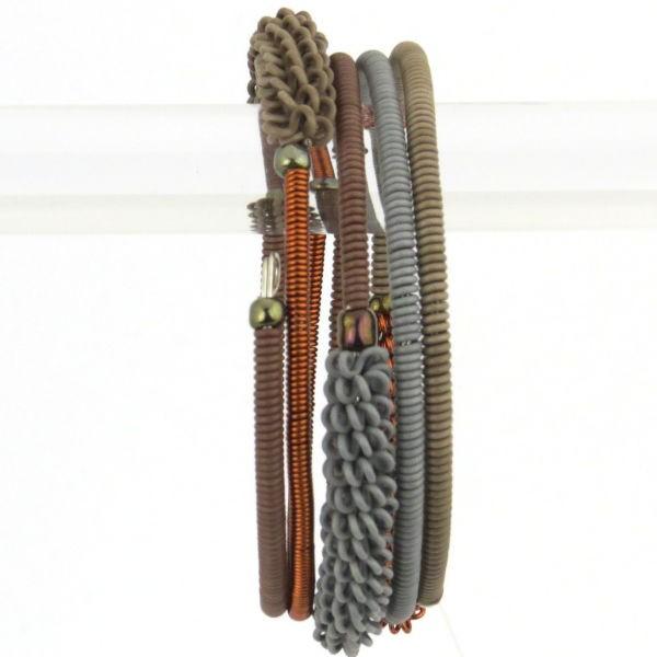 "Armband ""Wireblend - Half Spiral "" - 4 coils"