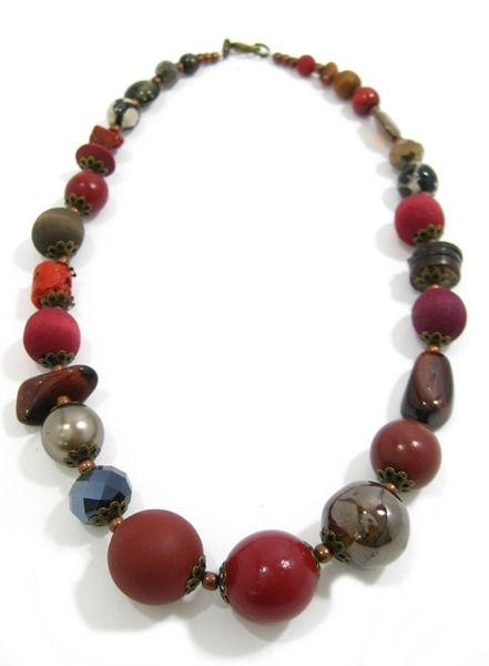 Halskette Floral Glam WINTER RED