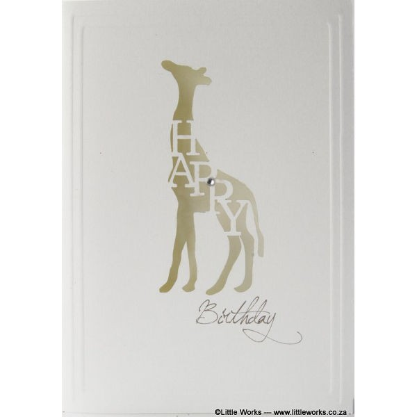 "Grußkarte ""Happy Birthday"" - Giraffe"