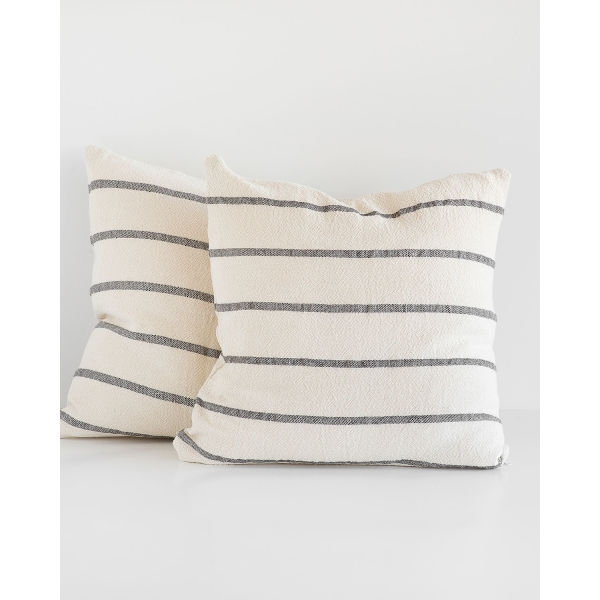 country cushion cover - CHARCOAL