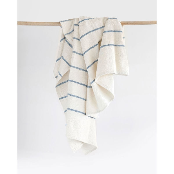 large country towel with stripes throughout - DENIM