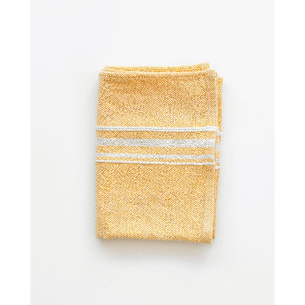 small contemporary towel with variegated stripes - YELLOW
