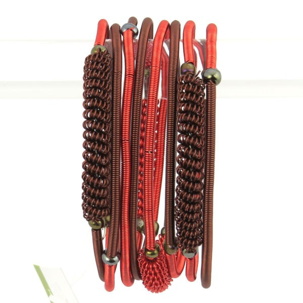 """Armband """"Wrapped Copper Spiral """" - 8 coils"""