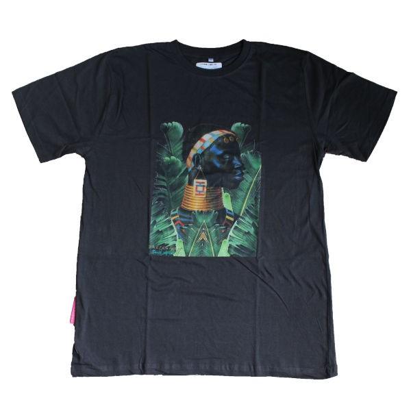 T-Shirt NDEBELE WOMAN & BANANA LEAF