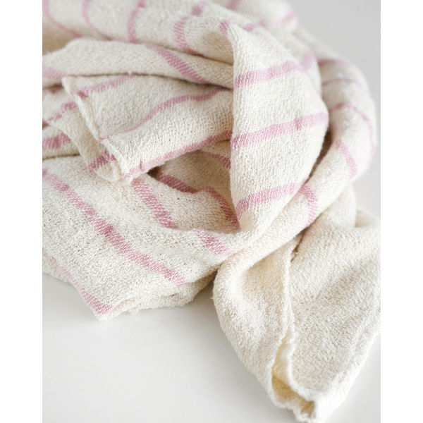 baby blanket with stripes throughout - PINK