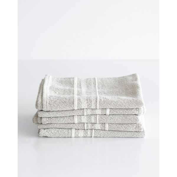 small contemporary towel with variegated stripes - STONE