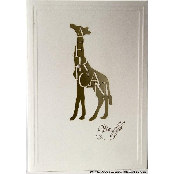 "Grußkarte ""Africa Giraffe"" - Munken"