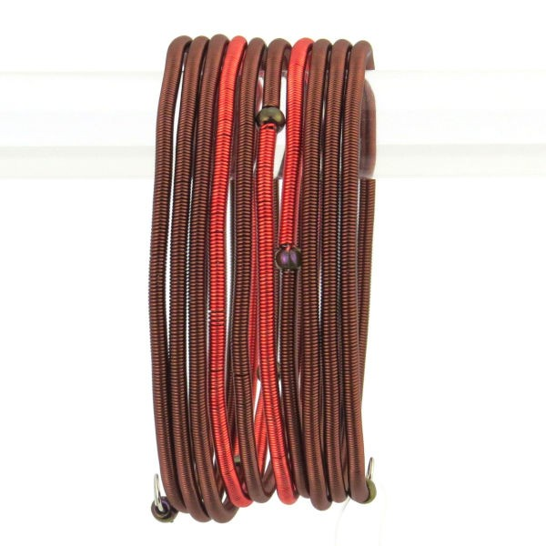 """Armband """"Wrapped Copper - Color Block"""" - 9 coils"""