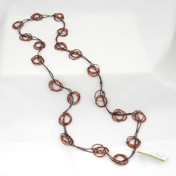 """Halskette """"Copper nests"""""""