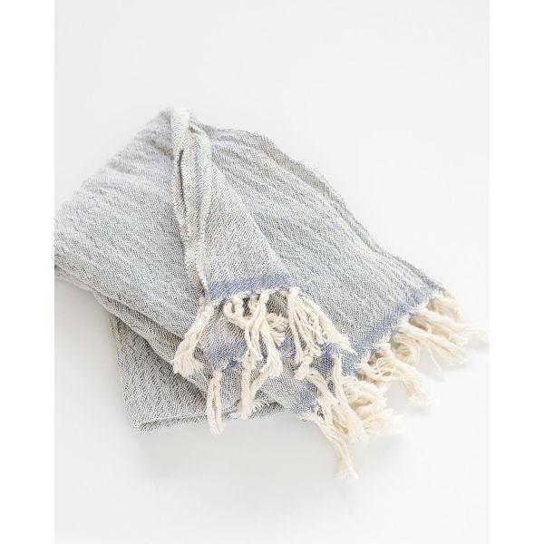 contemporary shawl - INDIGO
