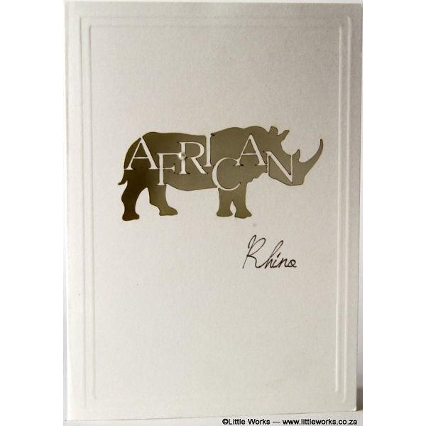 "Grußkarte ""Africa Rhino"" - Munken"