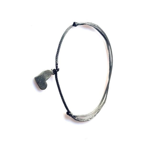 DAINTY Armband - Heart - grey