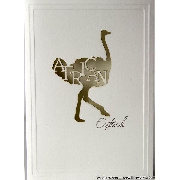 """Grußkarte """"Africa Ostrich"""" - Munken"""