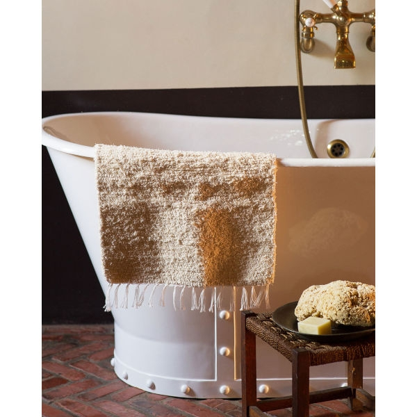 thick weave bath mat - NATURAL
