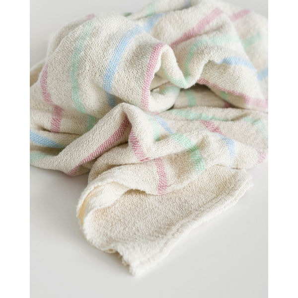 baby blanket with stripes throughout - CANDY