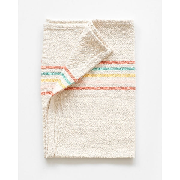 small country towel with stripes on end - CANDY