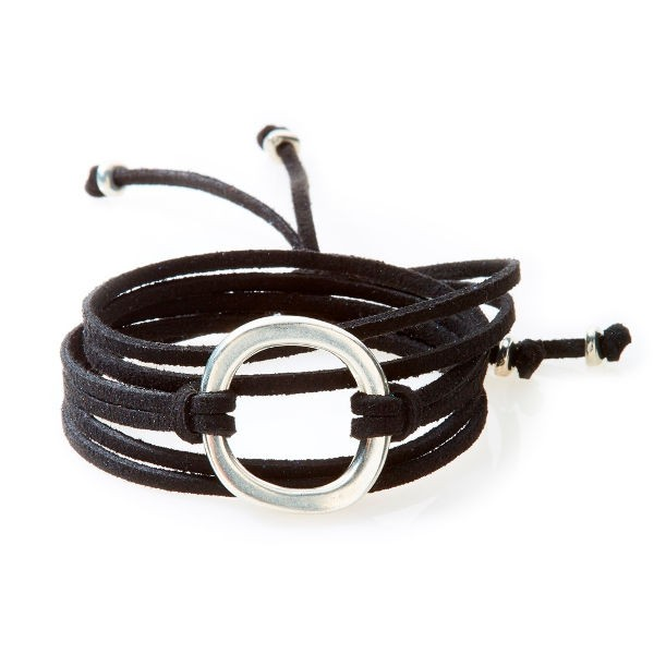 FIERCE Wildleder-Armband, Halskette & Choker - 1 Circle - black