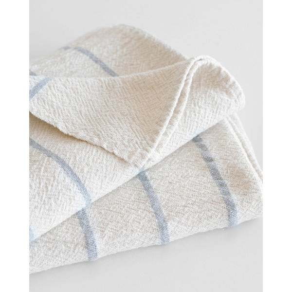 large country towel with stripes throughout - GREY
