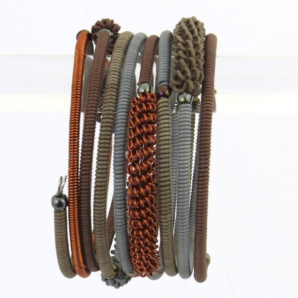 "Armband ""Wireblend "" - 8 coils"