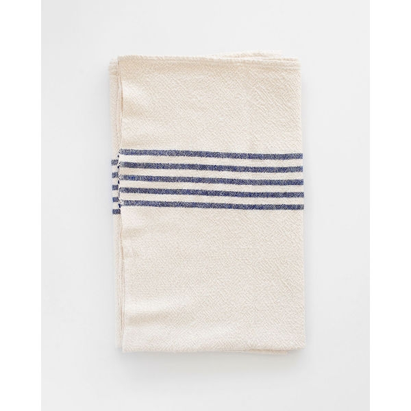large country towel with stripes on end - NAVY