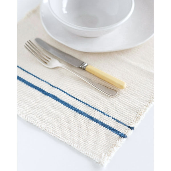 country placemat with stripes on end - DENIM