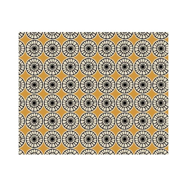 Design Team Meterware - SENEGAL TURMERIC BLACK ON LINEN