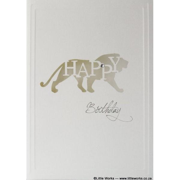"Grußkarte ""Happy Birthday"" - Lion"