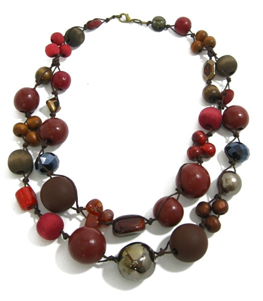 Halskette 2-Strang WINTER RED