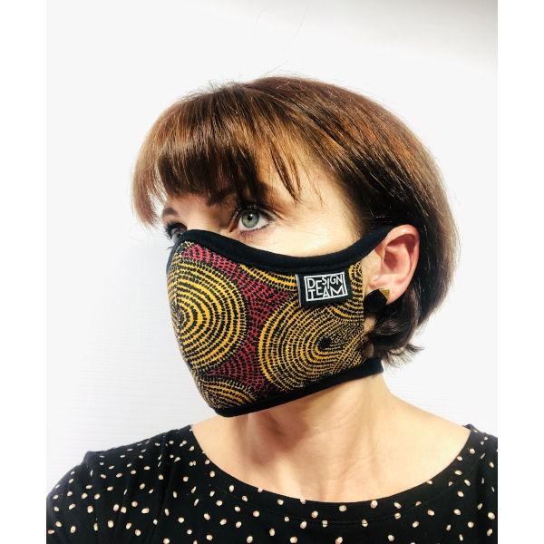 Peppertree Mund-Nasen-Maske CROP FIELD TURMERIC