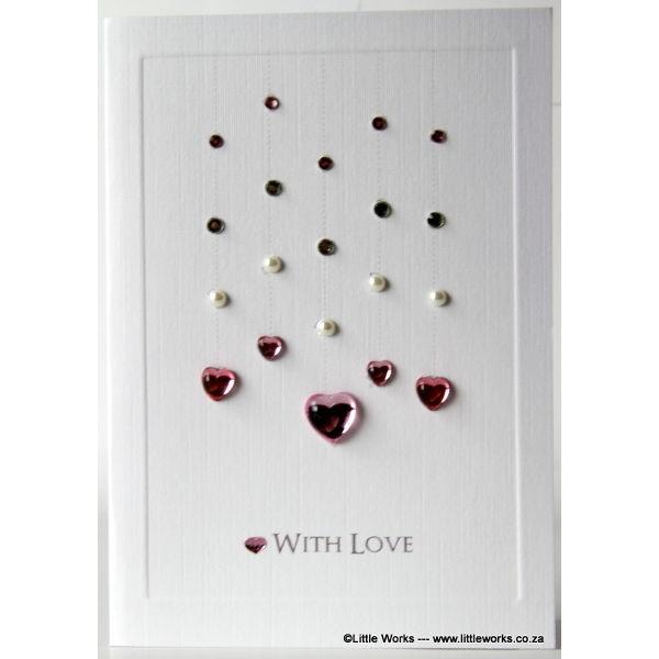 "Grußkarte ""With love"""